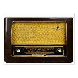 radio vieja plantilla de tarjeta personal