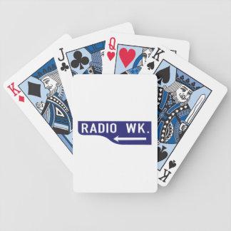 Radio Walk, Los Angeles, CA Street Sign Playing Cards