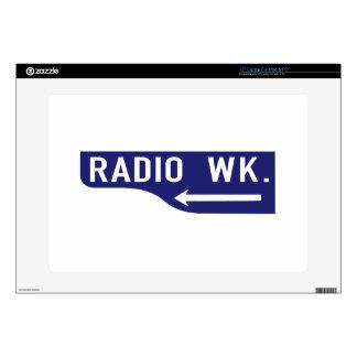 Radio Walk, Los Angeles, CA Street Sign Laptop Skins