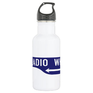 Radio Walk, Los Angeles, CA Street Sign Stainless Steel Water Bottle