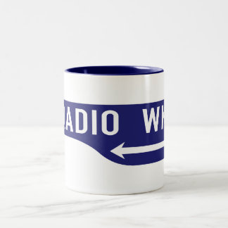 Radio Walk, Los Angeles, CA Street Sign Two-Tone Coffee Mug