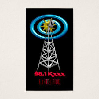 radio waves business card