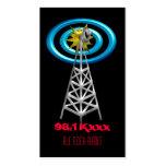 radio waves business card template