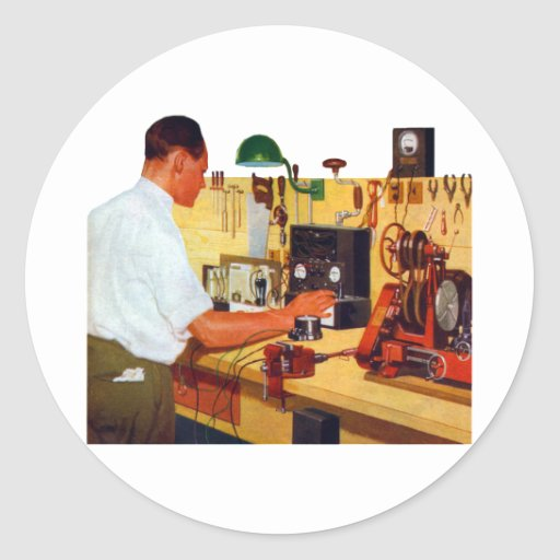 Radio Workbench Classic Round Sticker