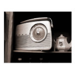 Radio y tetera postal