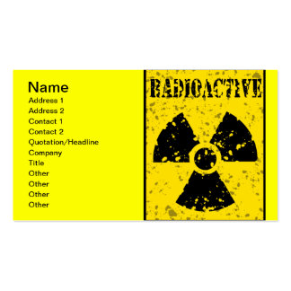 radioactive-4 RADIOACTIVE WARNING SYMBOL SIGN GRAP Double-Sided Standard Business Cards (Pack Of 100)