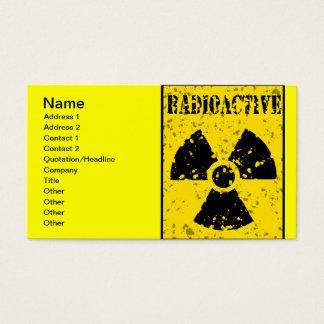 radioactive-4 RADIOACTIVE WARNING SYMBOL SIGN GRAP Business Card