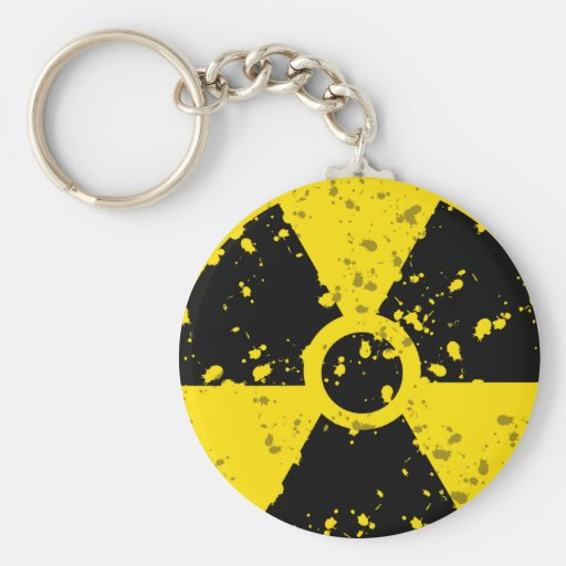 radioactive-4 RADIOACTIVE WARNING SYMBOL SIGN GRAP Basic Round Button Keychain