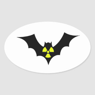 Radioactive Bat Oval Sticker