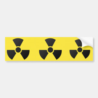 RADIOACTIVE BUMPER STICKER