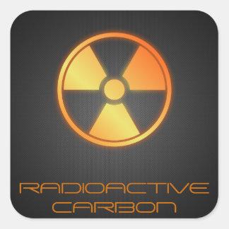 radioactive carbon fiber square sticker