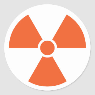 Radioactive Classic Round Sticker