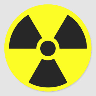 Radioactive Classic Round Sticker