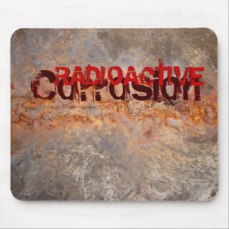 Radioactive Corrosion Rusted Metal & Concrete Mouse Pad