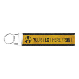 Radioactive Customizable Ribbon Key Fob