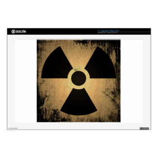 "Radioactive danger decal for 17"" laptop"