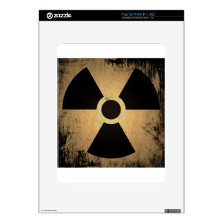 Radioactive danger decal for iPad