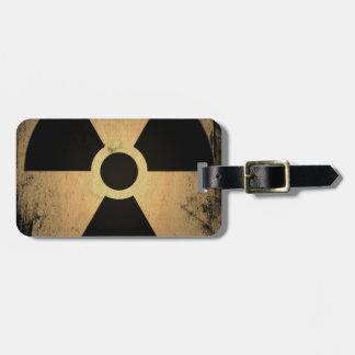 Radioactive danger luggage tag