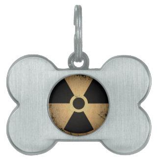 Radioactive danger pet ID tag