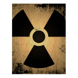 Radioactive danger postcard