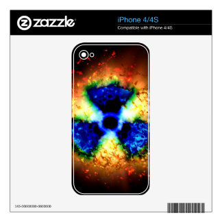 radioactive decals for the iPhone 4