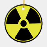 Radioactive Double-Sided Ceramic Round Christmas Ornament