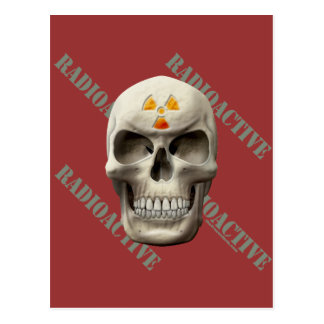 Radioactive Evil Skull Postcard