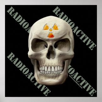 Radioactive Evil Skull Poster