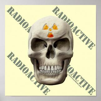 Radioactive Evil Skull Print
