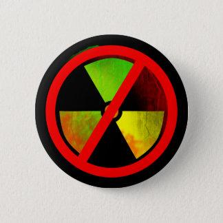 Radioactive Grunge No-Nukes Symbol Pinback Button