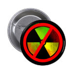 Radioactive Grunge No-Nukes Symbol Pinback Buttons