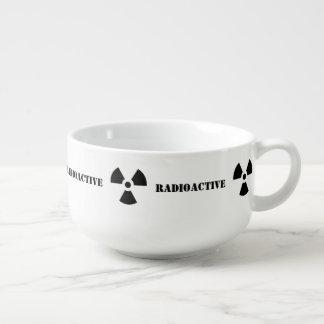 RADIOACTIVE HAZARD Radiation Halloween Prop Soup Mug