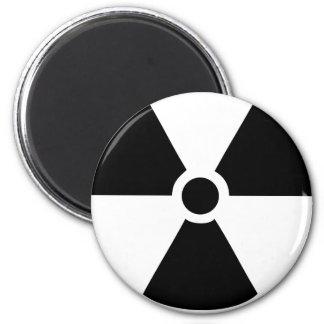 radioactive icon 2 inch round magnet
