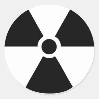 radioactive icon classic round sticker