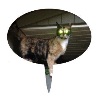 Radioactive kitty cake topper