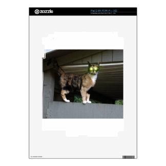 Radioactive kitty decals for iPad 2
