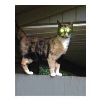 Radioactive kitty letterhead