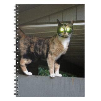 Radioactive kitty notebook