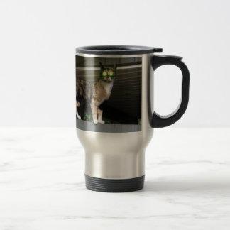 Radioactive kitty travel mug