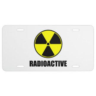 Radioactive License Plate