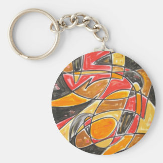 Radioactive Love - Abstract Art Keychain