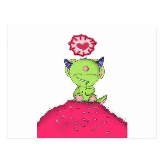 Radioactive Luv Monster Digital Art Postcard