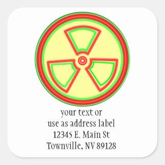 Radioactive Material Square Sticker