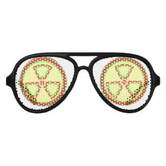 Radioactive Material Symbol Aviator Sunglasses