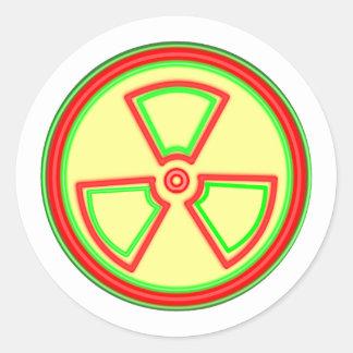 Radioactive Material Symbol Classic Round Sticker