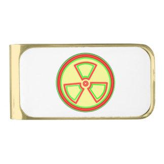 Radioactive Material Symbol Gold Finish Money Clip