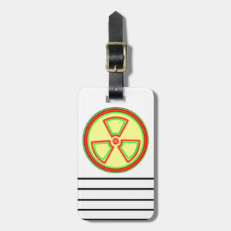 Radioactive Material Symbol Luggage Tag