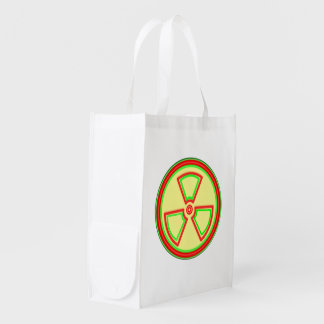 Radioactive Material Symbol Reusable Grocery Bag