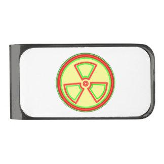 Radioactive Material Symbol Gunmetal Finish Money Clip