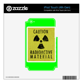 'radioactive materials' iPod touch 4G decal